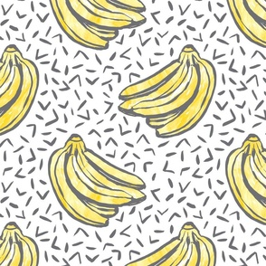 Go Bananas! - White - *large scale*
