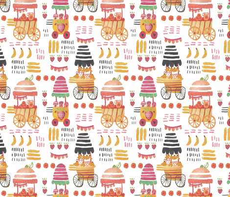 fruit_cart_frolic fabric by the_sunny_side_up_studio on Spoonflower - custom fabric