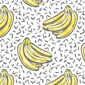 Go Bananas! - White - *medium scale*