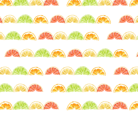 Fruit Stripes fabric by maidencrone on Spoonflower - custom fabric