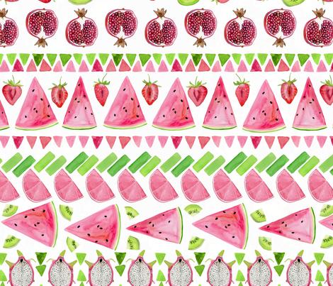 Pretty Fruity fabric by katebillingsley on Spoonflower - custom fabric