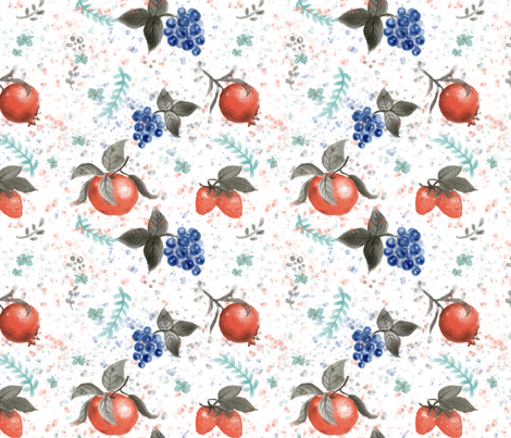 Fruits fabric by theboutiquestudio on Spoonflower - custom fabric