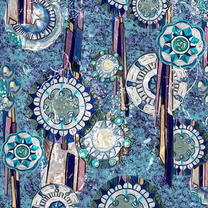 Blue Medallions