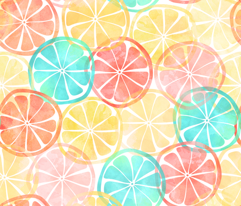 Summer Slices fabric by digidivagraphics on Spoonflower - custom fabric