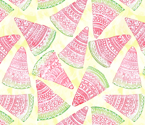 Bohemian Watermelon fabric by artfully_minded on Spoonflower - custom fabric