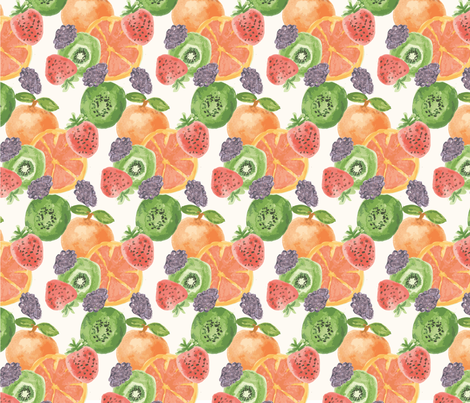 Summery fruits fabric by lauravalero on Spoonflower - custom fabric