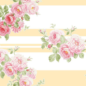 May Day  Summer Roses buttercup stripe
