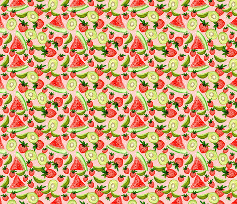 Sweet Summer Blush fabric by oceangirlcreativeco on Spoonflower - custom fabric