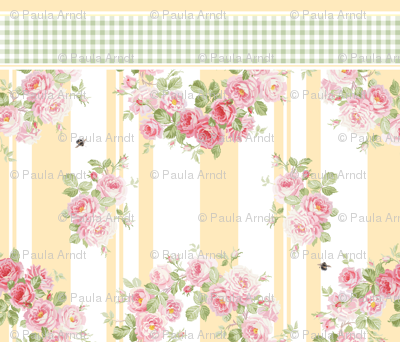 May Day Summer Roses buttercup Pillowcase