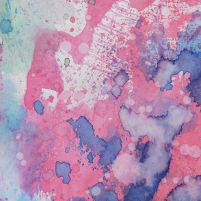 Back Off - Watercolor Texture Print