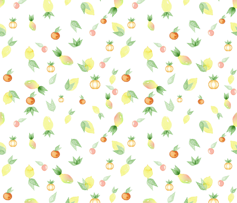 fruits fabric by arrpdesign on Spoonflower - custom fabric