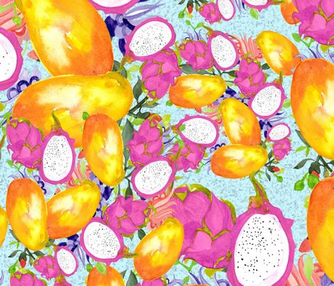 Fruit Medley fabric by designsbyismatshahid on Spoonflower - custom fabric