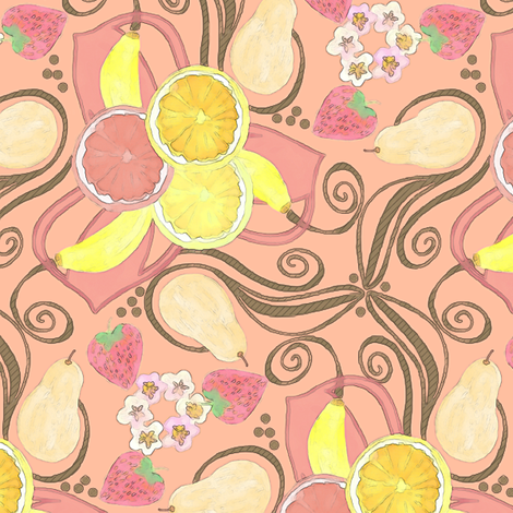 Whimsical Fruit Medley fabric by palifino on Spoonflower - custom fabric
