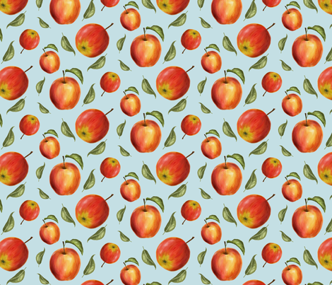 Apples_watercolor fabric by effikeijsper on Spoonflower - custom fabric