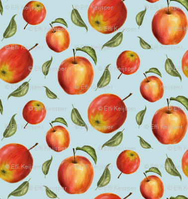 Apples watercolor