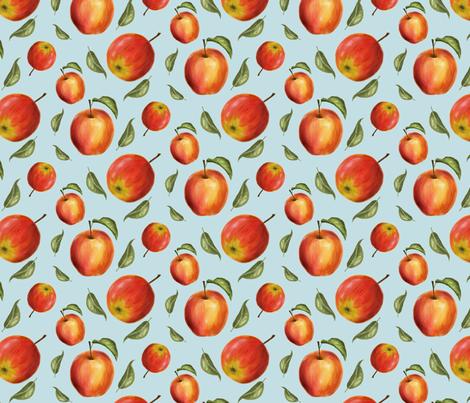Apples watercolor fabric by effi_keijsper on Spoonflower - custom fabric