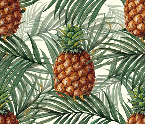King_Pineapple fabric by chicca_besso on Spoonflower - custom fabric