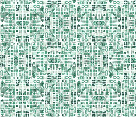 Emerald Doodle fabric by arrpdesign on Spoonflower - custom fabric