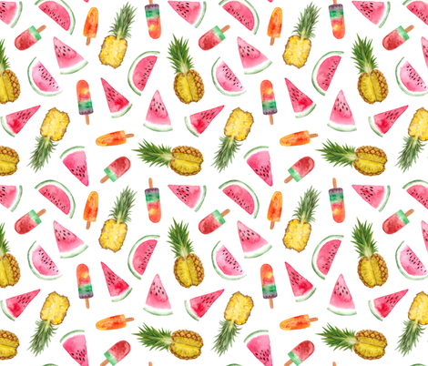 watercolor fruit festival fabric by alenaganzhela on Spoonflower - custom fabric
