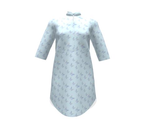 Tiny butterflies, multicoloured on very light blue   kids little girl dress bed linen sheet curtains pillows cushion