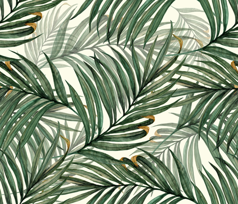 Palm_Leaves__King_Pineapple_ fabric by chicca_besso on Spoonflower - custom fabric