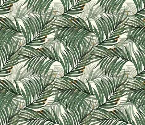 Palm_Leaves_50__King_Pineapple_ fabric by chicca_besso on Spoonflower - custom fabric