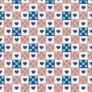 Summer Patches-Miniature Heart Quilt Squares