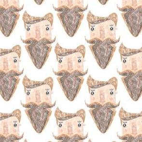 Bearded trendy hipster guy