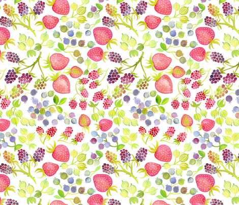 summer berries fabric by cjldesigns on Spoonflower - custom fabric