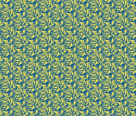 Lemon Crisp on Summer Seas Blue fabric by rhondadesigns on Spoonflower - custom fabric
