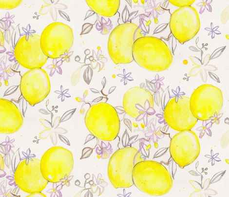 Easy Peasy Lemon Squeezy fabric by mariden on Spoonflower - custom fabric