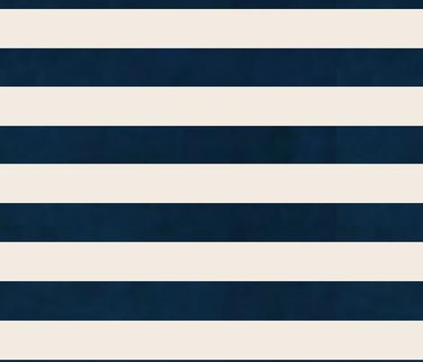 stripes - wide navy cream horizontal fabric by drapestudio on Spoonflower - custom fabric