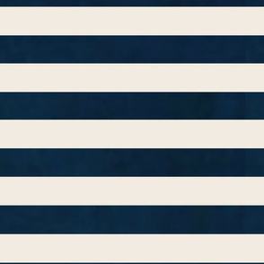 stripes - wide navy cream horizontal