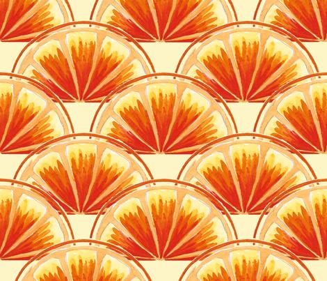 orange slice scallop fabric by ed_designs on Spoonflower - custom fabric