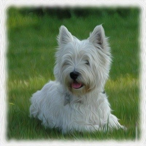 west highland terrier - painted