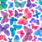 Watercolour Butterfly Pattern