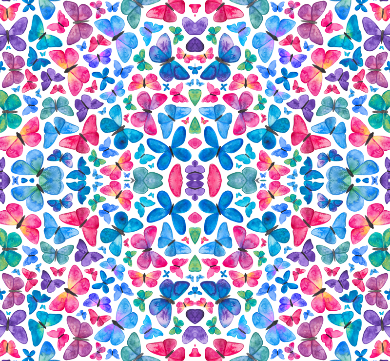 Watercolour Butterfly Pattern Wallpaper Elenao Beauteous Butterfly Pattern