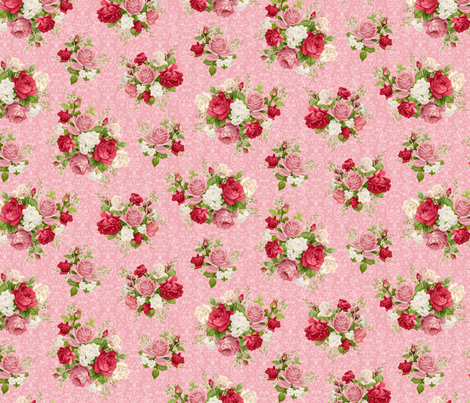 Love pink fabric by piondesign on Spoonflower - custom fabric