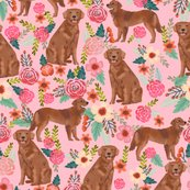 Rgolden_retriever_red_florals_pastel_pink_shop_thumb