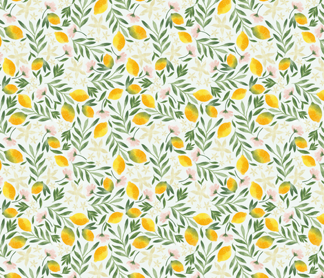 Lemony breeze fabric by laveroniquedesign on Spoonflower - custom fabric