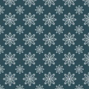 Chalk Snowflakes  - Yuletide - Dark blue