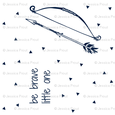 Be Brave Little One (Navy) 90  // bow and arrow