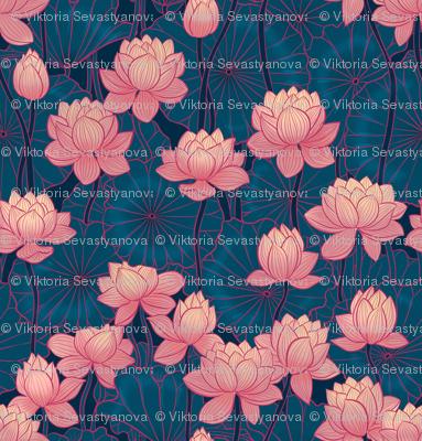 pink lotus dark background