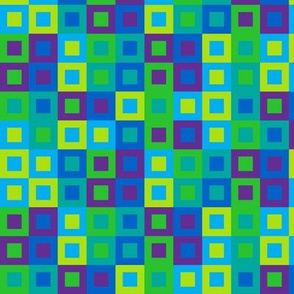 (F3) - Squares in squares in cool colors