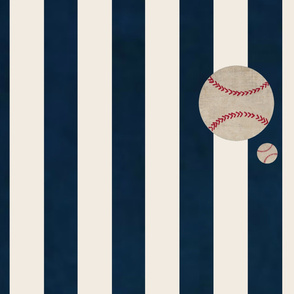 Yard42 vertical- Navy Stripe Baseballs on Bottom