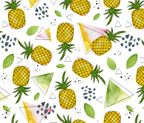 Juicy-Pineapple-1 fabric by lydesign on Spoonflower - custom fabric