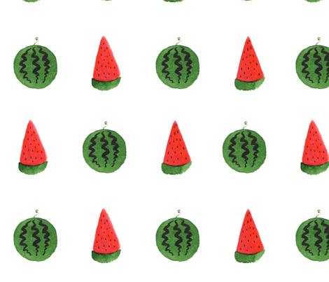 Summer watermelon fabric by nadiamurakami on Spoonflower - custom fabric