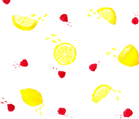 Raspberry Lemonade fabric by erinyh on Spoonflower - custom fabric