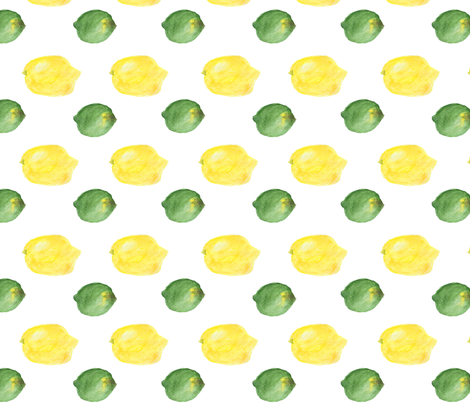 Limon Watercolor Small fabric by stoneamazon on Spoonflower - custom fabric