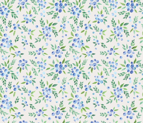 blueberrybushes fabric by ldpapers on Spoonflower - custom fabric